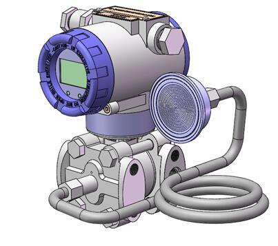 Diaphragm seal system pressure transmitters 10