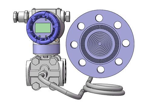 Diaphragm seal system pressure transmitters 6