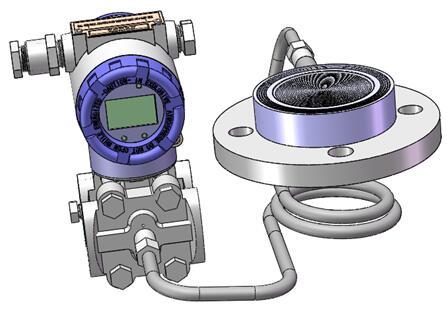 Diaphragm seal system pressure transmitters 7