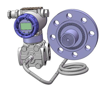 Diaphragm seal system pressure transmitters 8