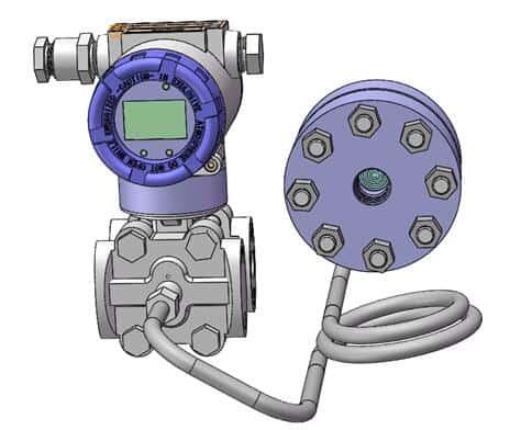Diaphragm seal system pressure transmitters 9