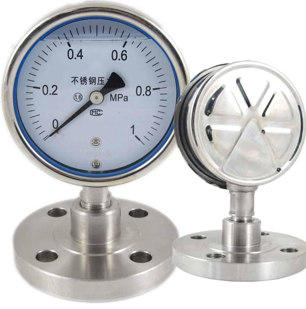 SI-D100-Diaphragm-pressure-gauge