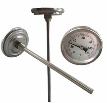 Back Connect Bimetal Thermometer