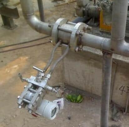 orifice flow meter installation