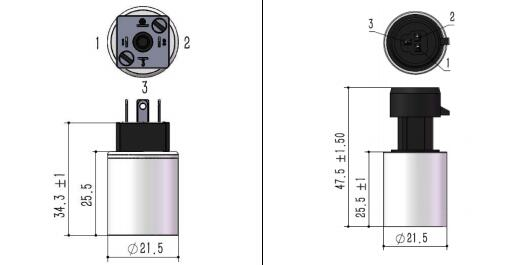 Industrial Pressure Transmitter drawings