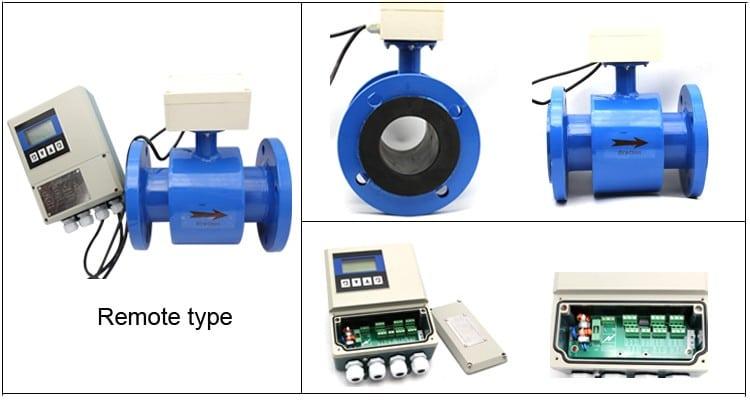 Dimensions of SI-3118 wastewater flow meter