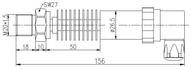 Dimensions-of-high-temperature-pressure-sensor