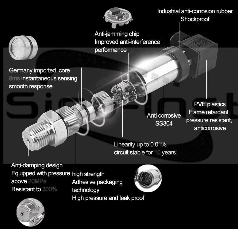 Pressure sensor structure