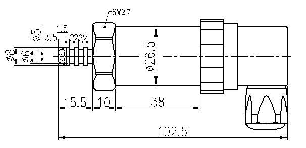 SI-503K-Gas-Pressure-Sensor-Dimensions