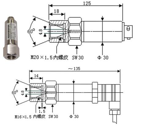 SI-702N Ultra High Pressure Sensor
