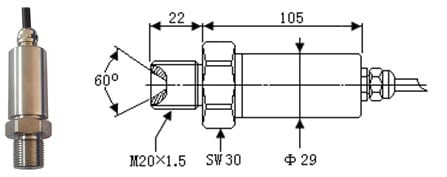 SI-702W Ultra High Pressure Sensor
