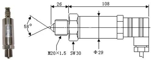 SI-702Z Ultra High Pressure Sensor