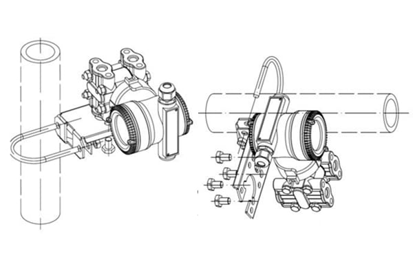 Where to install differential pressure transmitter
