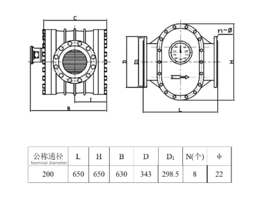 DN200-ANSI-Oval-Gear-Flow-Meter