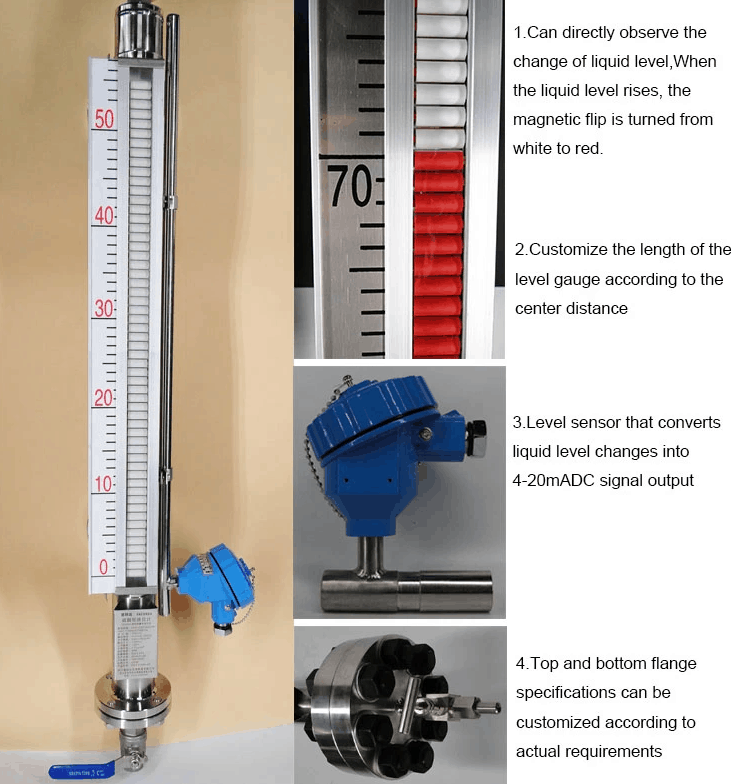 Magnetic Level Gauge for Tank Level Indicate