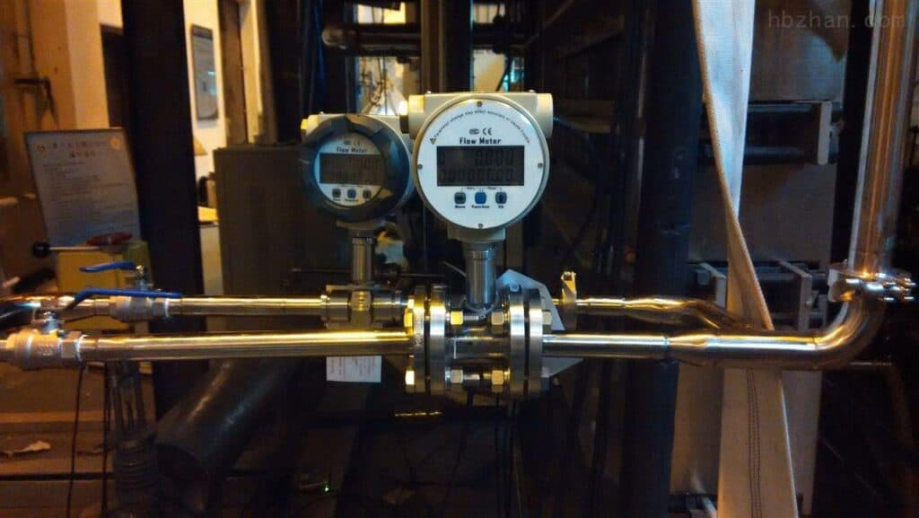 Inline oil flow meter