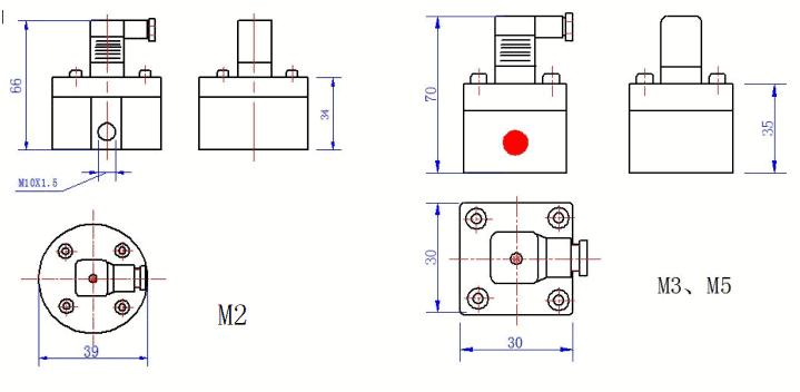 Micro Flow Meter Dimension 1