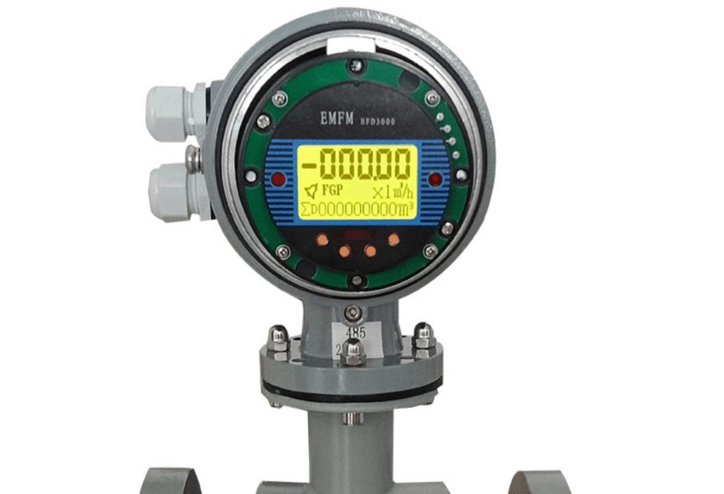 magnetic flow meter transmitter display