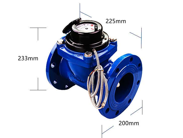 "3"" water meter dimensions"