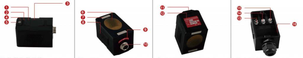 HT series high temperature clamp-on ultrasonic flowmeter sensor
