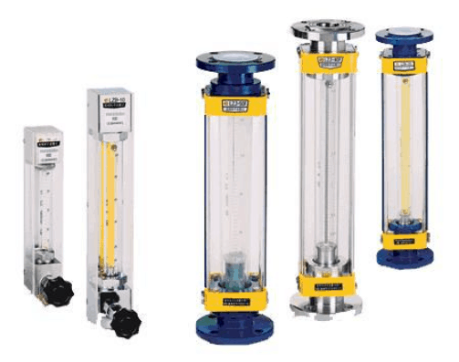 Glass variable area flow meter