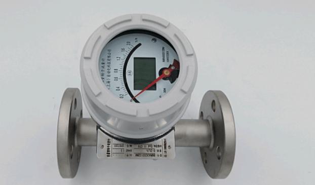 Horizontal variable area flow meter