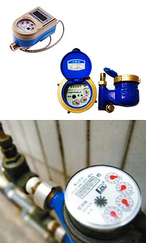 How does a residential water meter work?