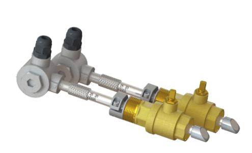 Insertion type ultrasonic flowmeter sensor
