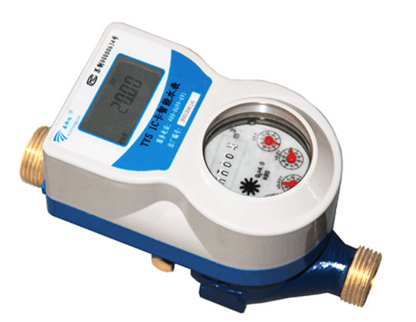 Mechanical water meter with electronic device