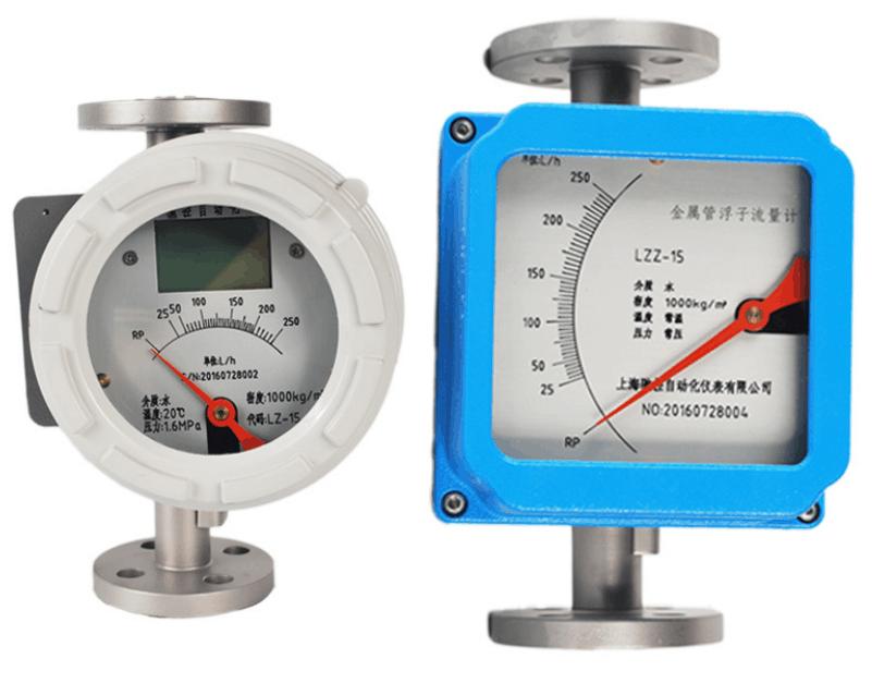 Metal variable area flow meter