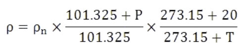 thermal mass flow meter equation 2