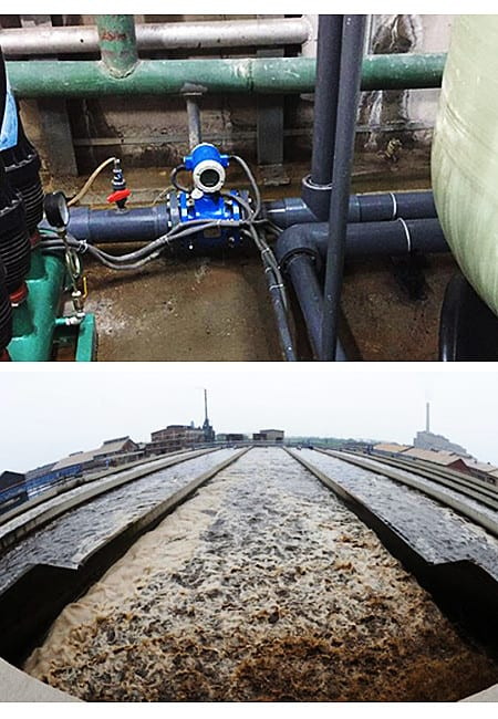 Sludge flow meter for sludge treatment