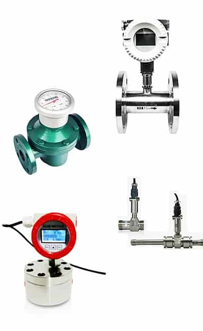 Solvent flow meters